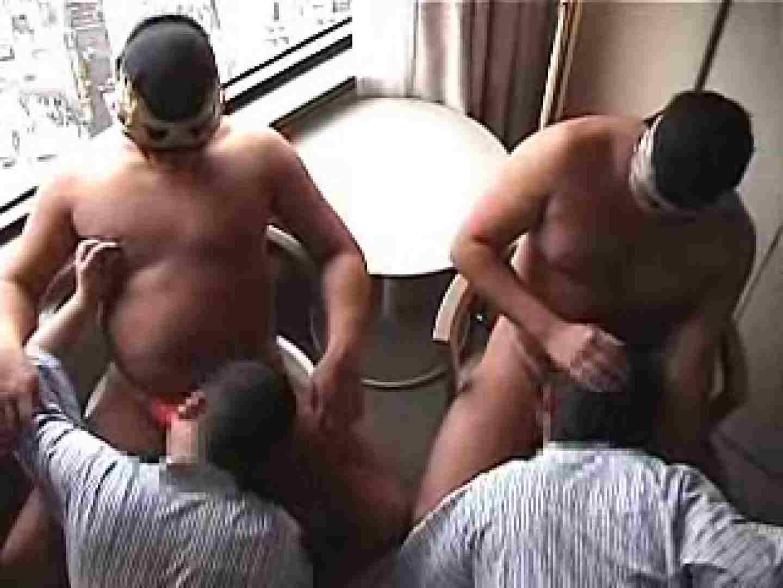 覆面レスラーvs兄貴のアナルタッグマッチ アナル舐め舐め | ディープキス ゲイ肛門画像 97pic 1