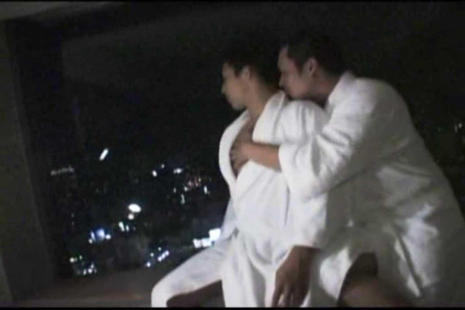 ホテルで密会!!夜景をバックに濃密ファック!! バック攻め   男の裸 ゲイ丸見え画像 78pic 1